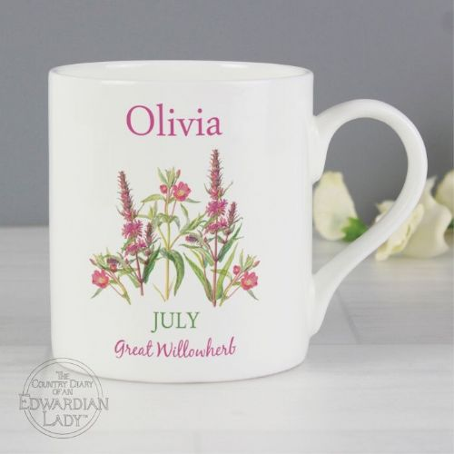 Country Diary 'July Flower Of The Month' Balmoral Mug